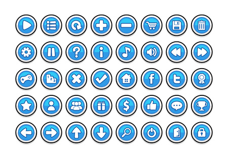 Pack of game button templates design. 일러스트