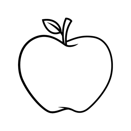 Apple cartoon BW