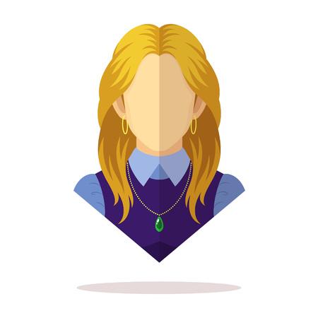 European women avatar Vektorové ilustrace