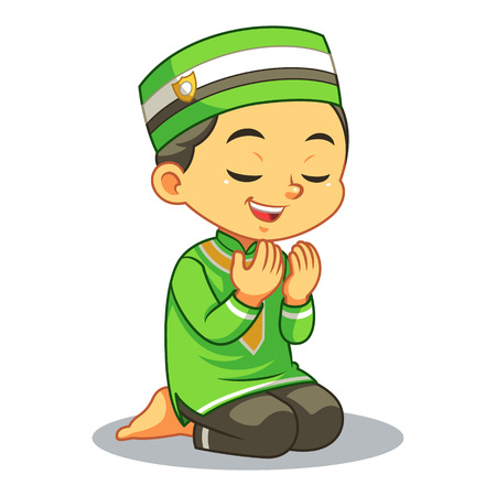 Moslem Boy Praying Dua With Sincerity.