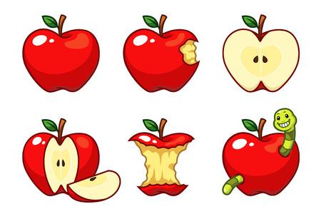 Manzanas rojas Foto de archivo - 108327770