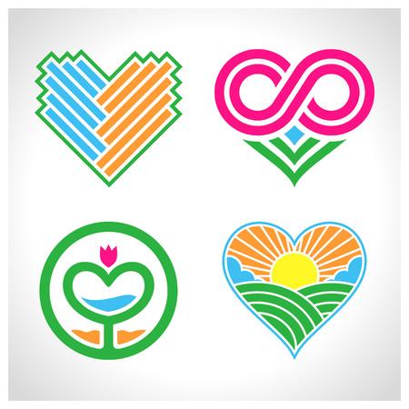 Heart Logos Illustration