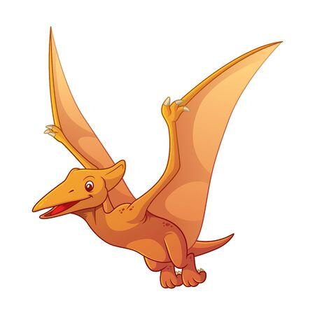 Pterodactyl Cartoon Illustration Vektoros illusztráció