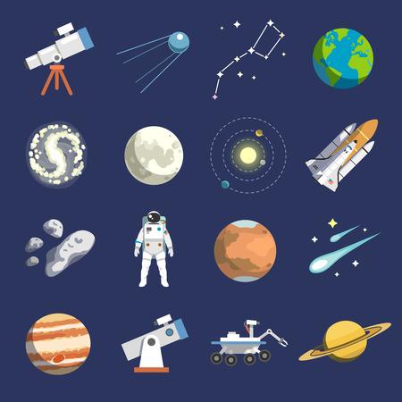 天文学のアイコンはフラットなデザイン。ベクトルのアイコン。# 2