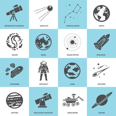 Astronomy Vector Icons Set Illustration