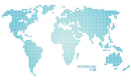 pacífico: Vector mundo mapa.