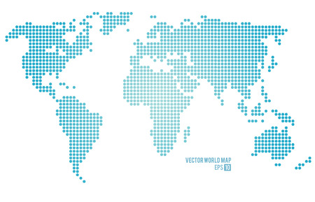 Vector world map. Stok Fotoğraf - 34909039