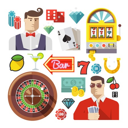 gambling chip: Creative casino and poker composition