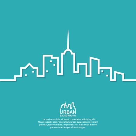 urbanistic: Urbanistic landscape flat vector illustration Illustration