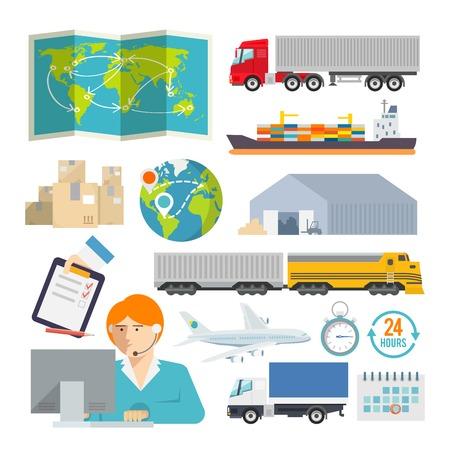 La logistique colorés vecteur, icône, ensemble Banque d'images - 36924351