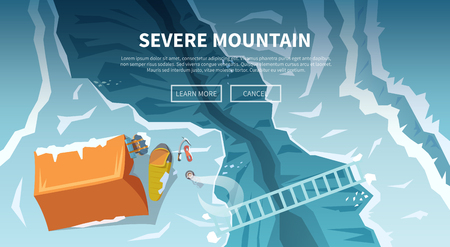 mountaineering: Vector background on the theme of Climbing, Trekking, Hiking, Mountaineering. Extreme sports, outdoor recreation, adventure in the mountains, vacation. Achievement Illustration