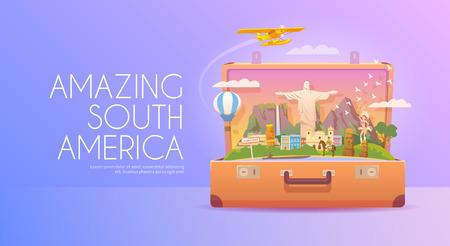 Reis naar Zuid-Amerika.