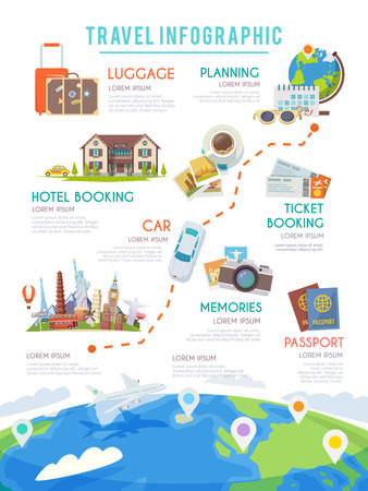 hotel booking: Travel infographic Web infographic.