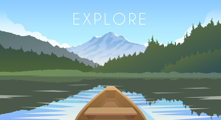 wanderlust: Sailing boat First person. Illustration