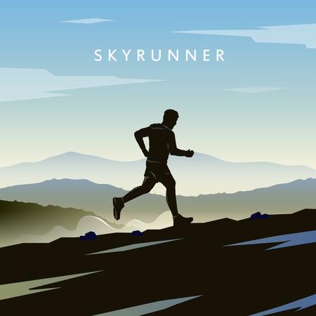 gente corriendo: Carreras de montaña.