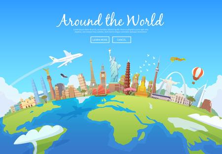 Reisen Sie nach Welt. Standard-Bild - 55671785