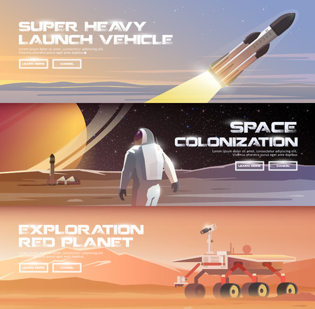 heavy vehicle: Super heavy launch space vehicle illustration.