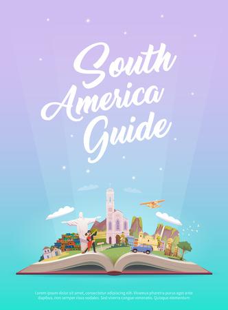 南アメリカへの旅行します。  イラスト・ベクター素材