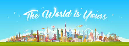 Reis naar World. Stock Illustratie