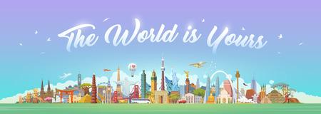 Reis naar de wereld. Stockfoto - 86178639
