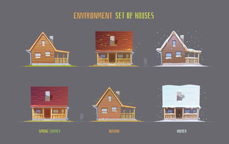 Milieu vector illustratie elementen voor het spel.