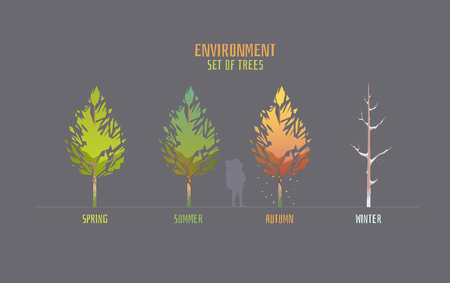 Environment vector illustration elements for game.