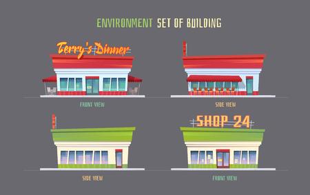 ゲームのための環境ベクトルイラスト要素。  イラスト・ベクター素材