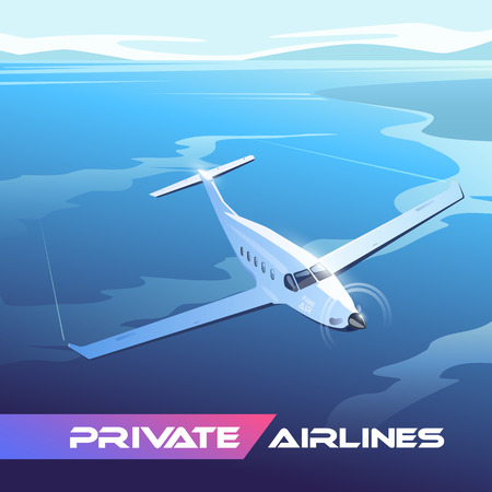Illustration on the theme of travel by airplane  イラスト・ベクター素材