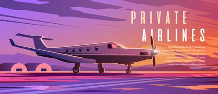 A standing plane. Travel by airplane. Sunset. 版權商用圖片