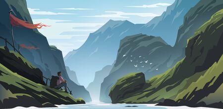 Unbelievable mountain landscape.