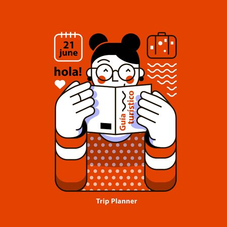 Trip Planner Apps for Trevelers. Travel Planning. Organization of vacation.