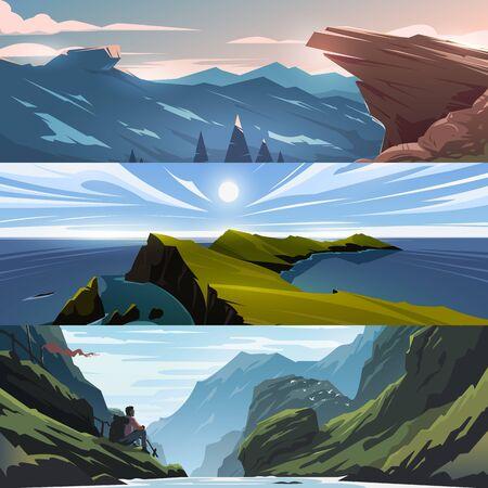 Mountains views.