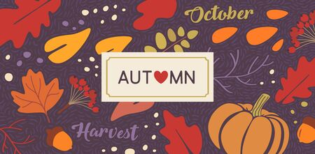 Autumn vector background concept for web