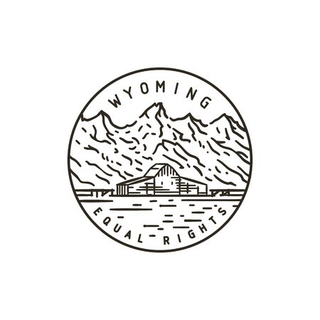 Wyoming. Rocky Mountains badge.