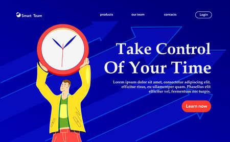 Take control of your time. Vektorové ilustrace
