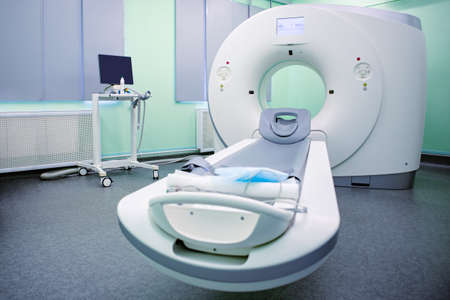 Complete CAT Scan System in a Hospital Environment. Archivio Fotografico
