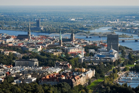 Old Riga view  from above photo