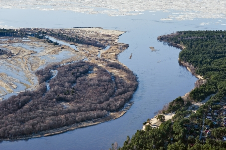 River Gauja mouth at the Gulf of Riga photo