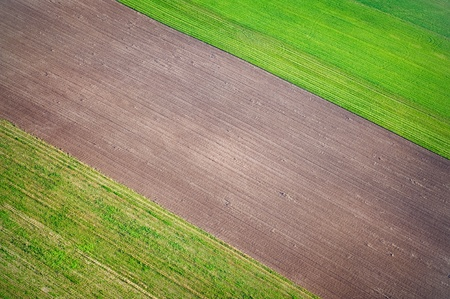 Aerial view over agricutural fields photo