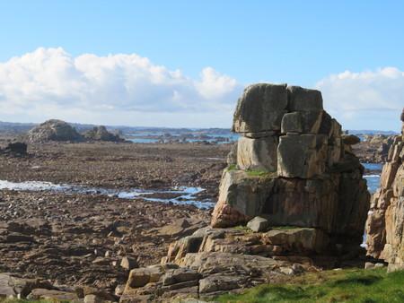 Big rock rock on north Brittany coast