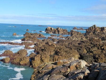 Granite rocks on Brittany coast