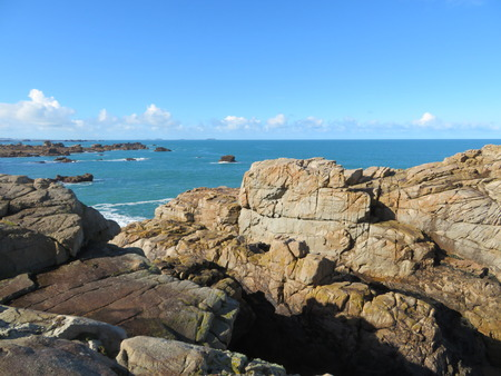 Beautiful north Brittany coast
