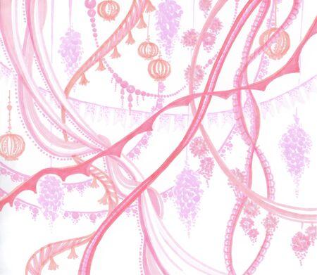pink celebration background for gender reveal party Zdjęcie Seryjne