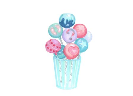 a glass with blue and pink candy balls chups for a gender reveal party Banco de Imagens - 131946656