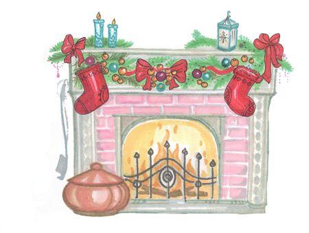 christmas new year festive fireplace