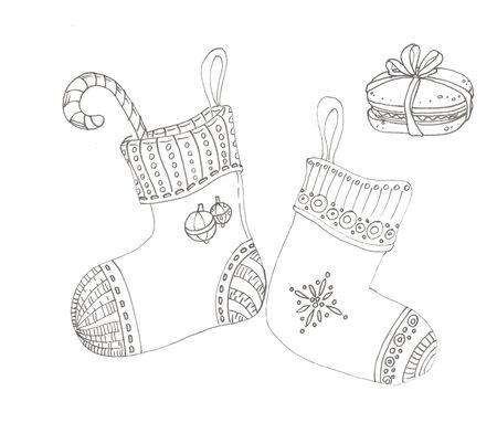 two festive christmas new year socks Zdjęcie Seryjne