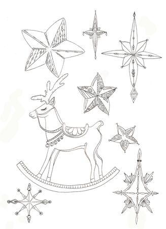 stars and sleeping deer rocking toy Zdjęcie Seryjne