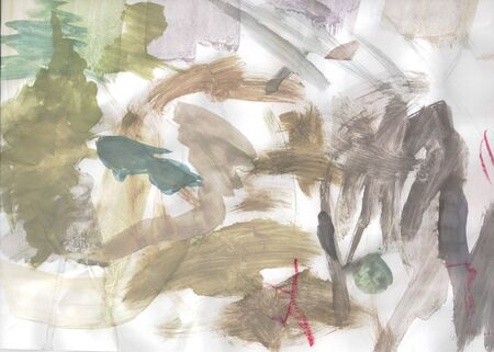 abstraction watercolor childrens freehand doodles Zdjęcie Seryjne