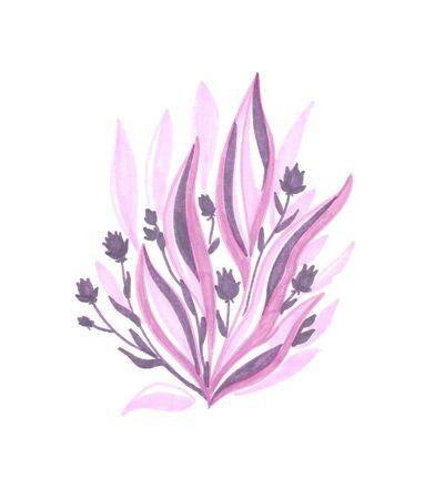 pink bush with purple flowers Zdjęcie Seryjne