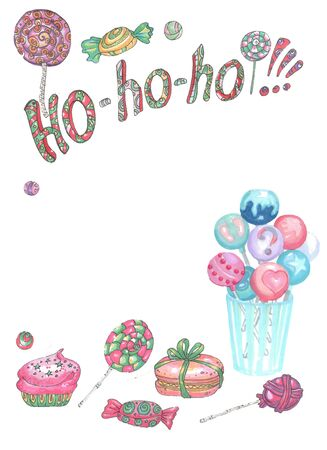 Ho Santa Claus words and candy